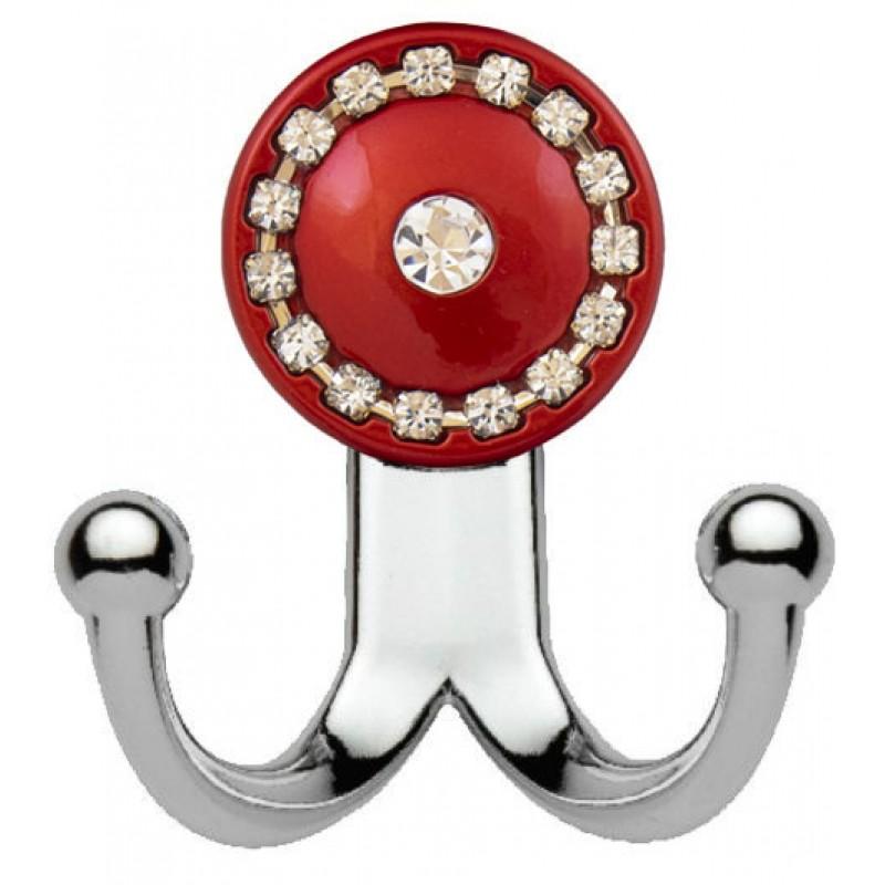 Мебельный крючок 13.147-06/039 хром-красный глянец
