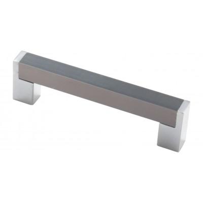 Мебельная ручка 14.227-06/22 - 96 мм хром-сталь