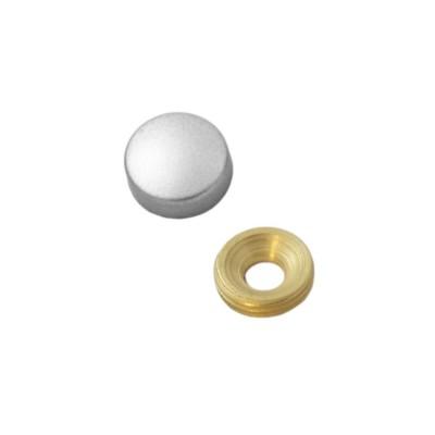 Заглушка на саморез 13 мм матовый хром (по 50 шт)