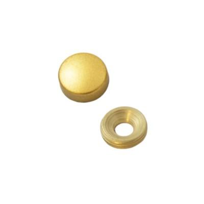 Заглушка на саморез 13 мм матовое золото (по 50 шт)