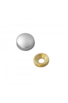 Заглушка на саморез 15 мм матовый хром (по 50 шт)