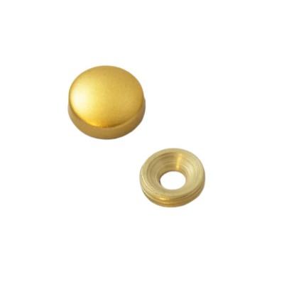 Заглушка на саморез 15 мм матовое золото (по 50 шт)