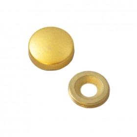 Заглушка на саморез 18 мм матовое золото (по 50 шт)