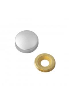 Заглушка на саморез 20 мм матовый хром (по 50 шт)