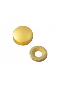 Заглушка на саморез 20 мм матовое золото (по 50 шт)