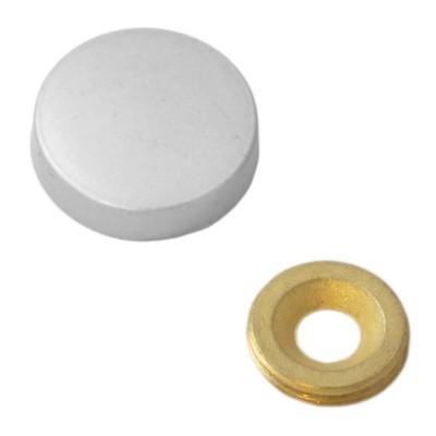Заглушка на саморез 25 мм матовый хром (по 50 шт)