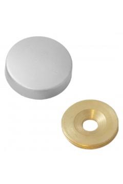 Заглушка на саморез 30 мм матовый хром (по 50 шт)