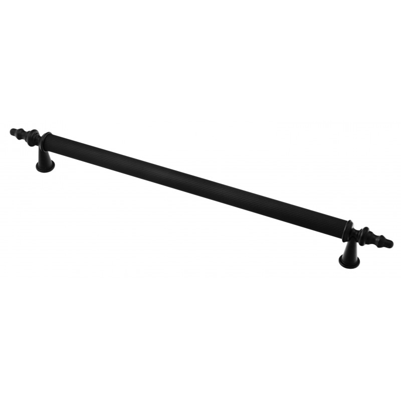 Мебельная ручка 3004-012/012 - 224 мм матовая черная