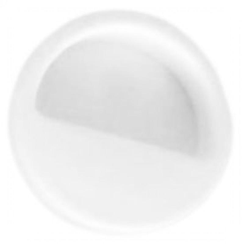 Мебельная ручка врезная круглая d=50 мм белая