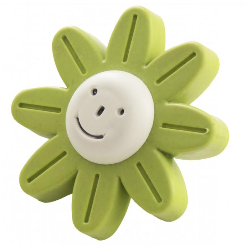 Мебельная ручка детская - зеленый цветок