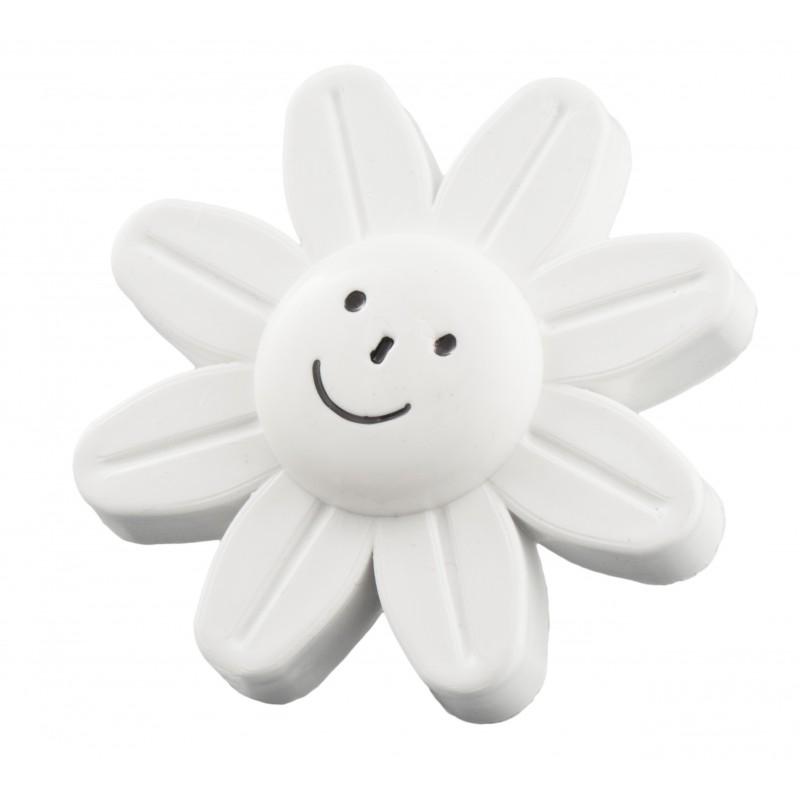Мебельная ручка детская - белый цветок