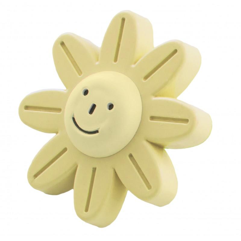 Мебельная ручка детская - бежевый цветок