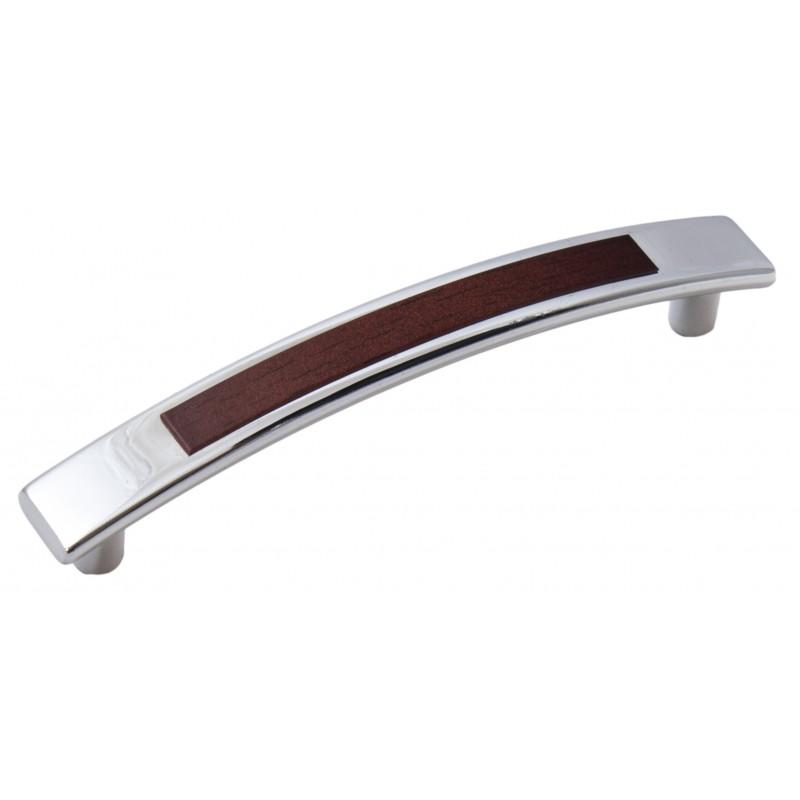 Мебельная ручка 5129-06/025 - 96 мм хром-яблоня