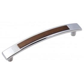 Мебельная ручка 5129-06/026 - 96 мм хром-орех