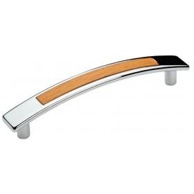Мебельная ручка 5129-06/027 - 96 мм хром-ольха