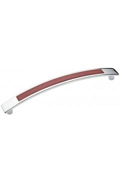 Ручка 5130-06/025 - 128 мм хром-яблоня