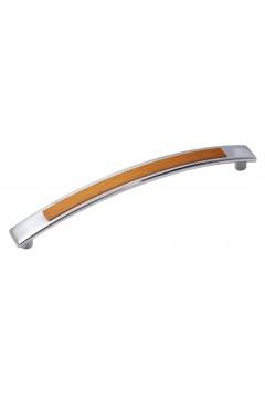 Ручка 5130-06/027 - 128 мм хром-ольха