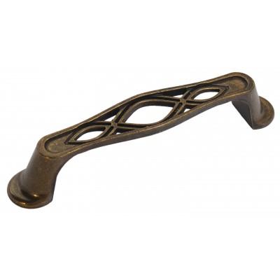 Мебельная ручка 5201-08 - 96 мм бронза
