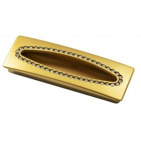 Ручка с камнями 5279-04 - 96 мм матовое золото