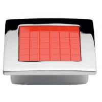 Мебельная ручка 5323-06/038 - 32 мм хром-красный