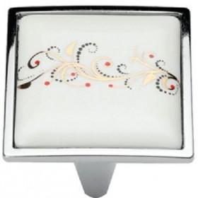 Ручка-керамика 5352-06/041 - 32 мм хром-лоза
