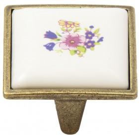 Ручка-керамика 5352-08/043 - 32 мм бронза-сирень