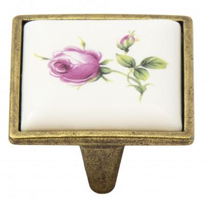 Ручка-керамика 5352-08/044 - 32 мм бронза-роза