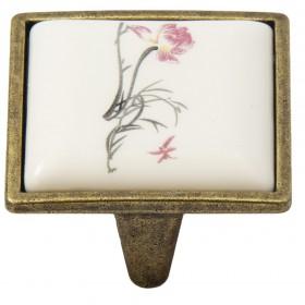Ручка-керамика 5352-08/045 - 32 мм бронза-нарцисс