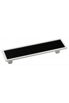 Мебельная ручка 5419-013/011 - 96 мм белая-черная