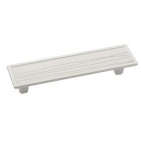 Мебельная ручка 5419-013/075 - 96 мм белая-белая с полосами