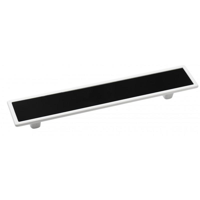 Мебельная ручка 5420-013/011 - 128 мм белая-черная