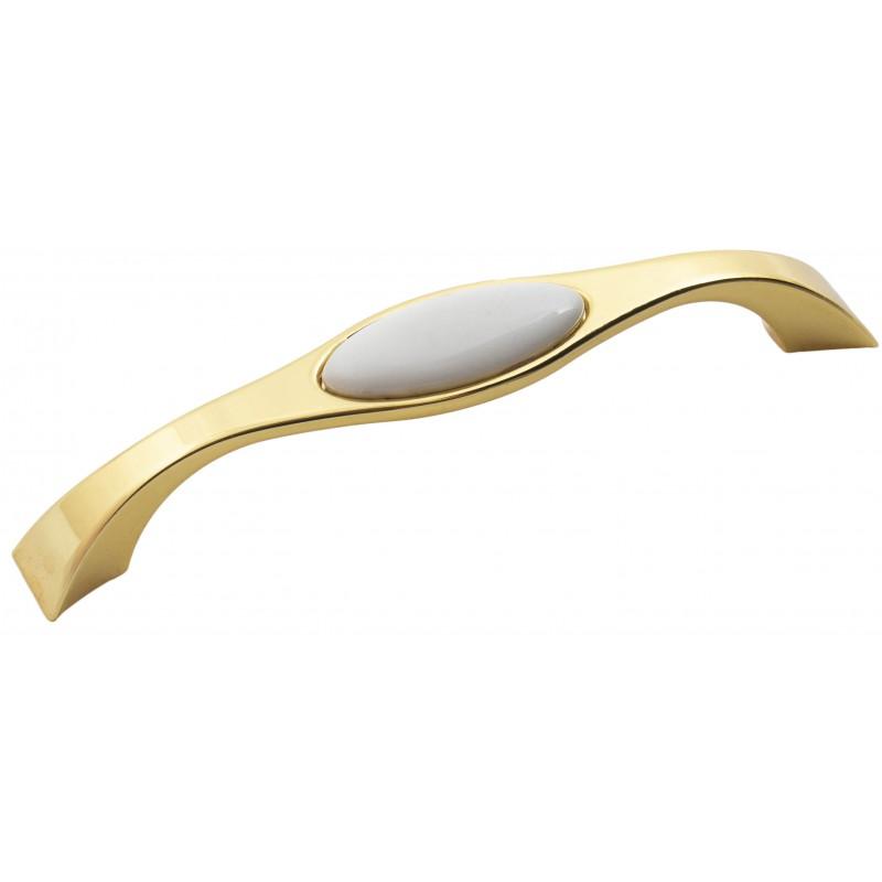 Мебельная ручка Reyhan 6008 - 128 мм золото