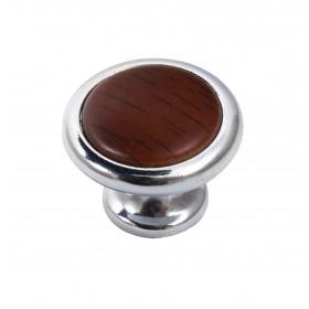 Мебельная ручка 8057-06/025 хром-яблоня