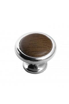 Мебельная ручка 8057-06/026 хром-орех