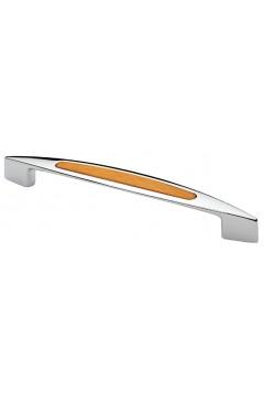 Ручка 8059-06/027 - 128 мм хром/ольха