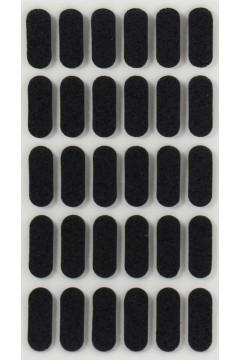 Cамоклеющийся отбойник 21*8 мм черный - 30 штук на листе Asr (Турция)