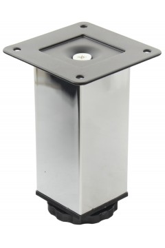 Ножка GTV SQ-40 (NL15/100R) - 4*4*10 см хром