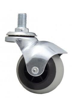 Ролик с болтом М10, TPR 50 мм, резиновый, круглый