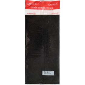Фетровая самоклейка - сплошная 12*24 см черная
