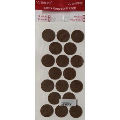 Фетровая самоклейка - круг D=30 mm