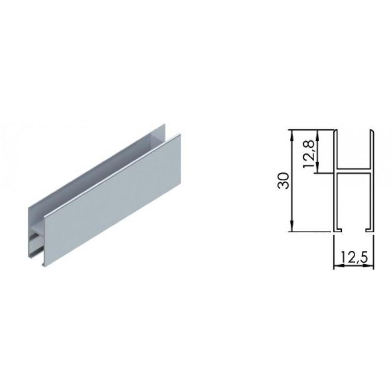 Нижний профиль для раздвижной системы LC 15 (3 метра, вес до 15 кг)