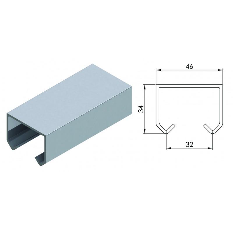 Направляющая для раздвижной системы для межкомнатных дверей Lucido LC 99 (2 метра, вес до 100 кг)