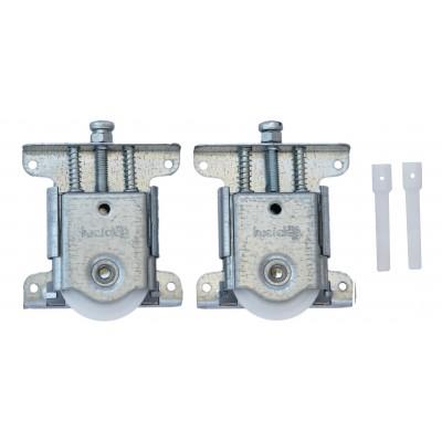 Ролики для раздвижной системы для шкафов купе LC 75AY (4 ролика - набор на 1 дверь, вес до 75 кг)