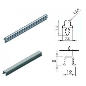 Направляющие для раздвижной системы для шкафов купе LC 30 (верх+низ, одинарные, 3 метра, вес до 30 кг)