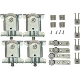 Ролики для раздвижной системы для шкафов купе LC 75AY UK K (набор на 2 двери, вес до 75 кг)