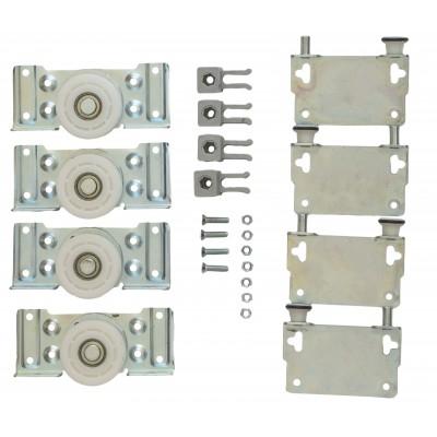 Ролики для раздвижной системы для шкафов купе LC 80AY (набор на 2 дверь, вес до 80 кг)