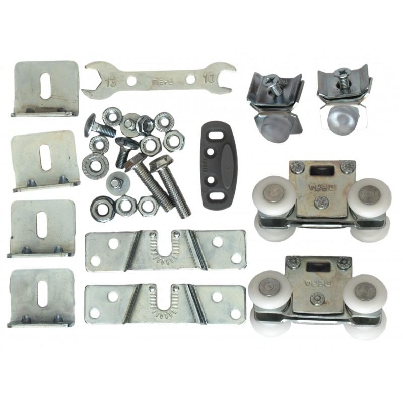 Ролики для раздвижной системы для межкомнатных дверей Mepa SKS-99 (набор на 1 дверь, вес до 100 кг)