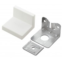 Уголок металлический 001202 (1,2 мм) с белой заглушкой MESAN (Турция)