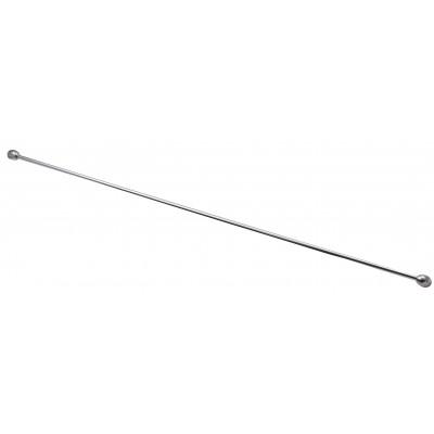 Металлический пруток для стеклянных полок 40 см c заглушками (без креплений)