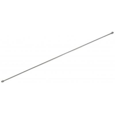 Металлический пруток для стеклянных полок 50 см c заглушками (без креплений)